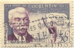 Stamps Europe - France -  Pierre de Coubertin