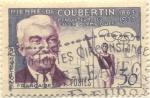 Stamps France -  Pierre de Coubertin