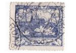 Stamps Czechoslovakia -  Palacio azul