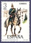 Stamps Spain -  Edifil 2453 Teniente de artillería rodada 3 NUEVO