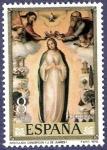 Stamps Spain -  Edifil 2537 Inmaculada Concepción 8 NUEVO