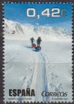 Stamps Spain -  ESPAÑA 2007 4345c Sello Deportes Al Filo de Lo Imposible Travesía en la Antartida usado