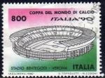 Sellos de Europa - Italia -  Italia 1990 Scott 1801c Sello Campeonato Mundial de Futbol Estadio Bentegodi Verona usado