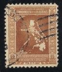 Stamps Philippines -  Mapa de Filipinas.