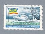 Sellos del Mundo : Europa : Rumania : 75 Anv. de la Navegación Marítima Rumana
