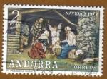 Sellos del Mundo : Europa : Andorra : El pesebre -VIVENT NAVIDAD