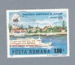 Stamps Romania -  Navigatia Europeana pe dunare