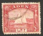 Stamps Yemen -  aden - dhow, embarcación a vela