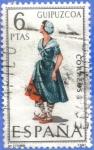 Stamps Spain -  ESPANA 1968 (E1848) Trajes tipicos espanoles - Guipuzcoa 6p 2 INTERCAMBIO