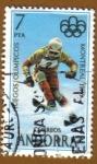 Stamps Europe - Andorra -  ESQUI - Juegos Olimpicos MONTREAL
