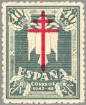 Sellos de Europa - España -  PRO TUBERCULOSOS.CRUZ DE LORENA EN CARMIN