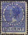Sellos de Europa - Holanda -  Holanda 1924-26 Scott 180 12,5C Sello Reina Wihelmina usado Netherlands