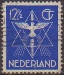 Sellos de Europa - Holanda -  Holanda 1938 Scott 200 Sello Estrella, Paloma y Espada usado Netherland