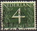 Sellos de Europa - Holanda -  Holanda 1946-57 Scott 284 Sello Serie Numeros usado Netherlands