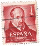 Stamps Europe - Spain -  IV Centenario de Góngora