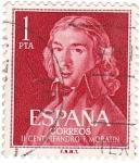 Stamps Spain -  II Centenario de Leandro F. Moratín