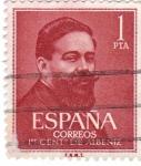 Stamps Spain -  I Centenario de Albeniz