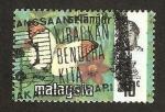 Sellos del Mundo : Asia : Malasia : mariposa, hebomoia glaucippe aturia