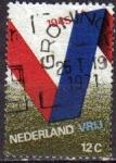 Stamps Netherlands -  Holanda 1970 Scott 482 Sello V de Victoria 25 Aniversario Liberacion de Alemania usado Netherland