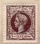 Stamps Asia - Philippines -  Alfonso XIII 1898-99