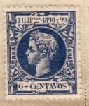Sellos del Mundo : Asia : Filipinas : Alfonso XIII 1898-99