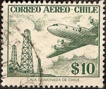 Stamps : America : Chile :  Avion