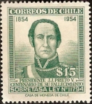 Stamps of the world : Chile :  Presidente J.J. Prieto V.