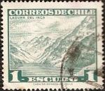 Stamps Chile -  Laguna del Inca