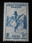 Stamps Africa - Mauritania -  Danza Tribal