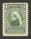 Stamps America - New Foundland -  reina victoria