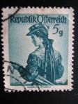 Stamps Austria -  Vestuarios de Austria(Salzburg, Pinzgau)