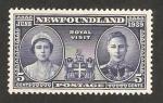 Stamps America - New Foundland -  visita real  de la reina elizabeth y george VI