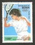 Stamps Africa - Benin -  olimpiadas atlanta 96, tenis