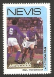 Stamps Europe - Saint Kitts and Nevis -  Nevis - Mundial de fútbol México 86