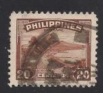 Sellos de Asia - Filipinas -  Volcán Mayon