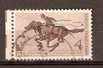 Stamps United States -  CORREO  A  CABALLO