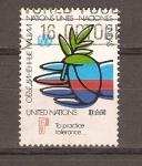 Stamps ONU -  MANO  Y  RAMA  DE  OLIVO