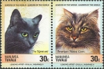 Sellos del Mundo : Oceania : Tuvalu : gatos