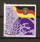 Stamps Germany -  (DDR) 30 aniversario de la RDA