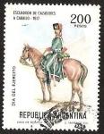 Stamps Argentina -  DIA DEL EJERCITO - ESCUADRON DE CAZADORES A CABALLO