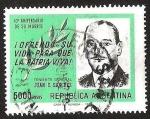 Sellos de America - Argentina -  TENIENTE GENERAL JUAN SANCHEZ 10° ANIVERSARIO DE SU MUERTE
