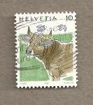 Sellos de Europa - Suiza -  Vaca
