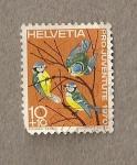 Sellos de Europa - Suiza -  Pájaros