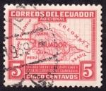 Stamps America - Ecuador -  MAPA DE ECUADOR