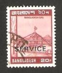 Stamps : Asia : Bangladesh :  estación de gas en bangladesh