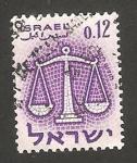 Stamps : Asia : Israel :  signo del zodiaco, libra