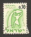 Stamps : Asia : Israel :  Acuario, Signo del Zodiaco