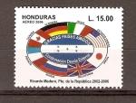 Sellos de America - Honduras -  BANDERAS