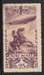 Sellos del Mundo : Europa : Mongolia :  Jinete y Zeppelin.