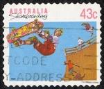 Stamps : Oceania : Australia :  Skateboarding, halfpipe